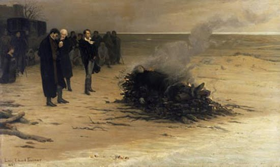 Shelley's cremation