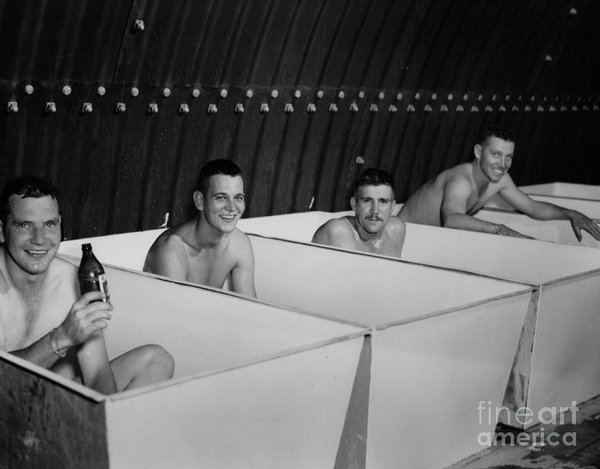 world-war-ii-bath-time-for-guys-r-muirhead-art